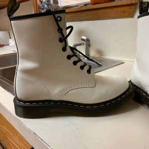 Black and white doc martens. great condition